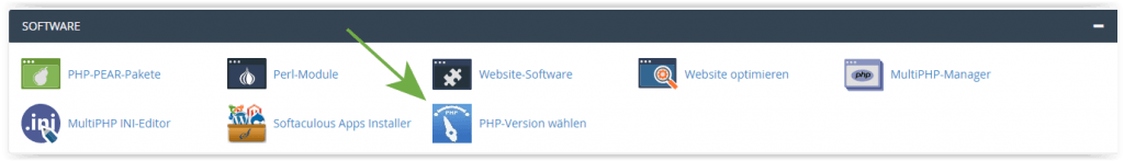 cpanel php versions